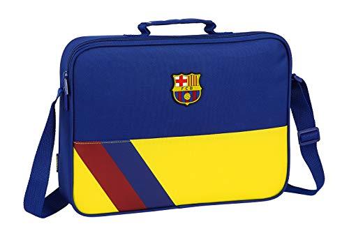 Safta 612025385 Bolso Maletín Cartera extraescolares niño FC Barcelona, Azul (Multicolor)