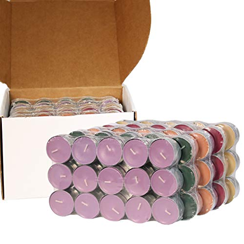 CandleNScent Scented Tea Lights Candles | Variety Pack | French Vanilla - Sweet Lavender - Fresh Pine - Cinnamon Spice - Warm Apple Pie - Made in USA (Pack of 150)