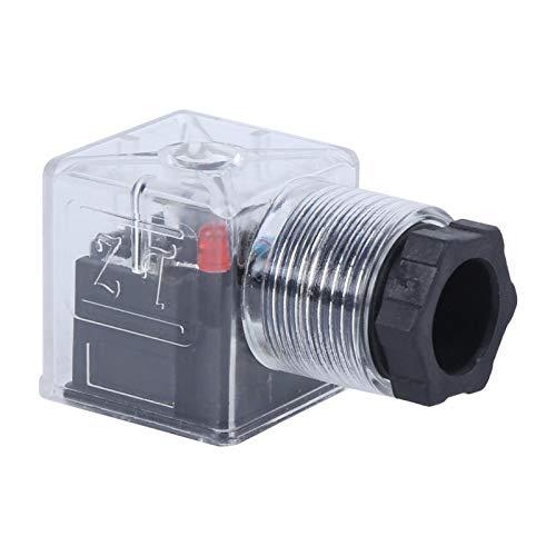 5 uds, Enchufe de bobina de solenoide transparente, 24 V CC, 10 A, voltaje, válvula de solenoide hidráulica, indicador de enchufe, junta de guía, prensado, tamaño mini industrial para