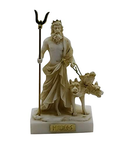 Hades Pluto Greek God of Underworld & Cerberus Figure Statue Sculpture 5.1in