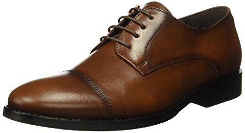 Tienda Calidad A8071C, Zapatos de Cordones Hombre, Marrón (Cuero), 44 EU