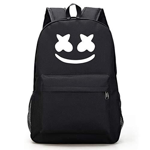 Alan Walker - Mochila escolar de algodón para DJ con cara sonriente, color negro