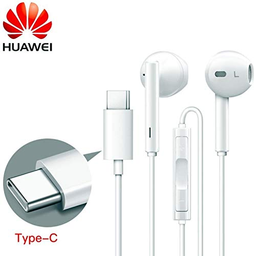 Original Weiß Huawei (CM33) 55030088 Kopfhörer Typ C für Huawei Porsche/Mate 20 Pro/Honor Magic 2/Note 10/Nova 4/Mate 10 Pro/P10/Maimang 7