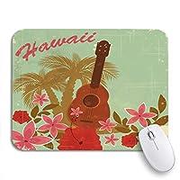 NINEHASA 可愛いマウスパッド ブラウンハワイヴィンテージハワイアントゥビーチパーティーグリーンパターンノンスリップラバーバッキングマウスパッド(ノートブックコンピュータ用)マウスマット