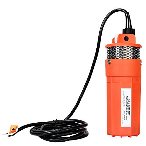 ECO-WORTHY 24V Submersible Deep Well Water with 10ft Cable 1.6GPM 4'' 5A, Max Lift 230ft/70m, Max Submersion 100ft/30m, DC Pump/Alternative Energy Solar Battery Farm & Ranch Submersible Deep Well Pump
