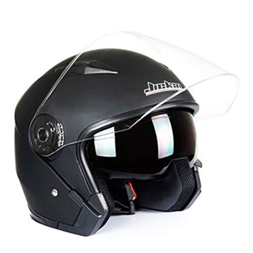 Motesen Cascos de cara abierta con gafas Casco de motocicleta de doble lente Casco de cara completa Casco de motociclista Racing Scooter