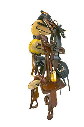StoreYourBoard Horse Saddle Storage Rack, Wall Mounted Equestrian Saddle Holder, Holds (4) Western and English Saddles
