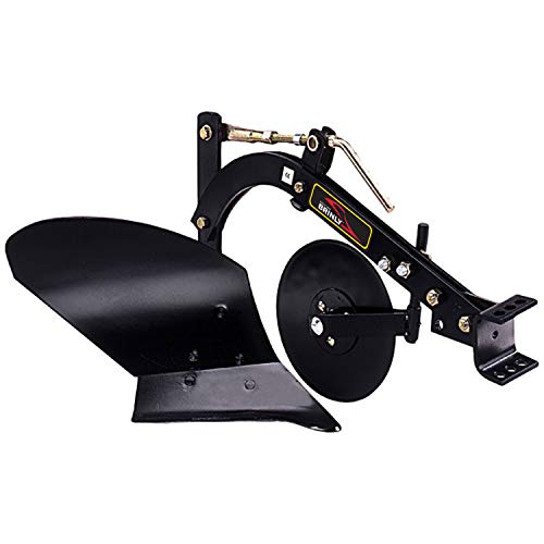 Brinly PP-510-A Sleeve Hitch Tow Behind, 10″ Moldboard Plow, Black