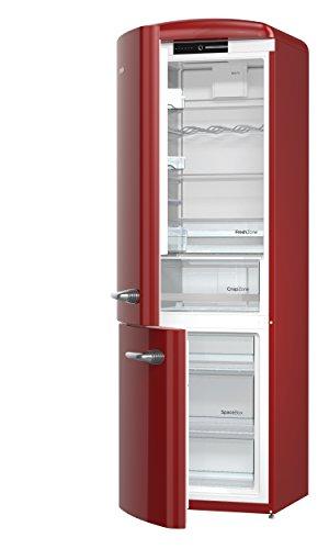 Gorenje ORK 193 x de l Réfrigérateur/Congélateur/A + + +/Hauteur 194 cm/kühlen : 227 l/gefrieren : 95 L/Silver/Frost Less/Crisp Zone/Oldtimer/Retro Collection bordeaux