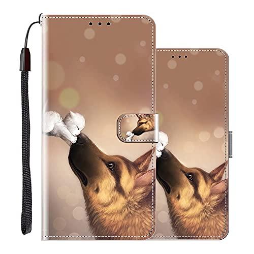 Hülle für Sony Xperia X Performance Handytasche Klappbares Magnetverschluss Lederhülle Flip Etui Standfunktion Hülle Xperia X Performance Schutzhülle Leder Brieftasche(Wolf küssen)MEHRWEG