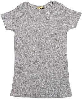 DONOBAN トップス レディース ラウンドネック Uネック レイヤード 重ね着 インナー 半袖 肌着 綿 コットン レーヨン 無地 コットンフライス半袖Tシャツ
