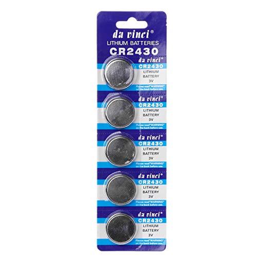 Batterien Knopfzellen Aisumi 5 STÜCKE Knopfzelle CR2430 3 V Elektronische Lithium Knopfzellen DL2430 BR2430 ECR2430 KL2430 EE6229 Uhr Spielzeug Kopfhörer