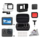 Deyard 25 in 1 kit di accessori per GoPro Hero 7 (Solo nero) Hero (2018) GoPro Hero 6 Hero 5 con...