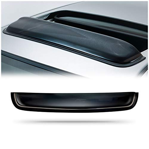 CK Formula Universal 42in 1062mm Sun//Moon Roof Sunroof Moonroof Dark Smoke Rain Shield Guard Vent Windflector Wind Deflector Visor Auto US