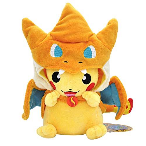 "Charizard Pikachu Plush Stuffed Animal Toy Pikachu Go Pillow 9.8"" (Yellow)"