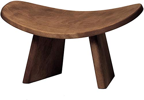 BLUECONY IKUKO Basic Meditation Bench, Wooden Kneeling Ergonomic Seiza - Solid Wood Dark Walnut, Standard Height (7' or 18cm)