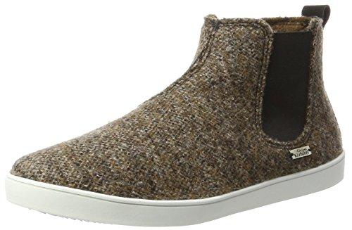 Living Kitzbühel Unisex Boots Tweed Chelsea Hausschuhe, Braun (Chesnut), 45 EU