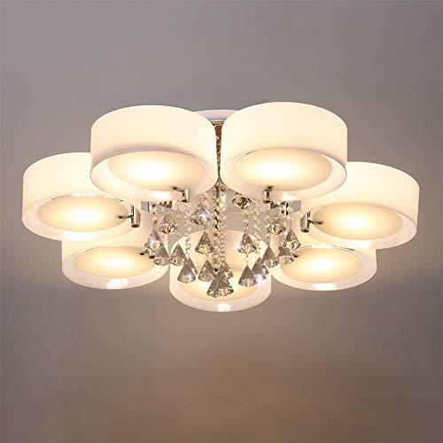 Lámpara de Techo acrílica S, Luces Colgantes Regulables, luz Colgante con Control Remoto de Gota de Agua de Cristal (5 Cabezas)