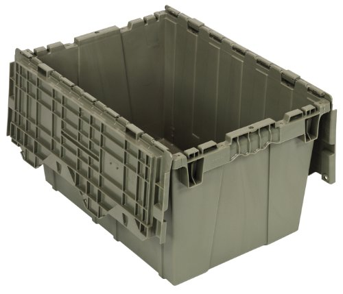 Quantum Storage Systems, QDC2115-12, Attached Lid Container, 1.67 Cu Ft, Gray, 21' x 15' x 12'
