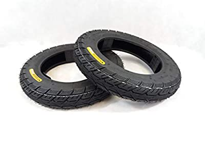 Pair of 3.00-10 Black Mobility Scooter tyre, (8PLY) TGA Royale 3 Breeze S3-S4
