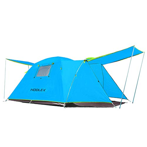 HODLEX Camping Outdoor Tent Durable Waterproof Family Large Tents Easy Setup 4 Person Tent with...