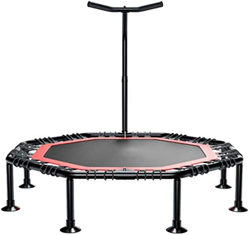 LKFSNGB Mini Fitness Trampoline With Adjustable T-bar Stability Handle Foldable Exercise Trampoline for Adults or Kids Aerobic Bouncer Trampoline for Gym Home-Ø:108cm