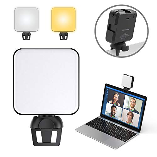 FDKOBE Video Conference Lighting Kit, Webcam Lighting with Clip for Remote Working/Zoom Calls, Zoom Lighting/Live Streaming, Self-Broadcasting, for Laptop/Phone with Clip