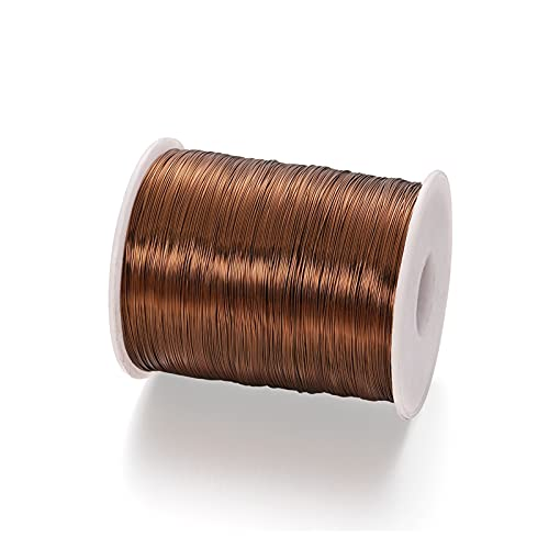 Artesanía de bricolaje Colorfeado Color Tamaño de cobre Cable de joyería Cuerda de la joyería para el collar de la pulsera de bricolaje que hace hallazgos suministros para arte de uñas de bricolaje, a