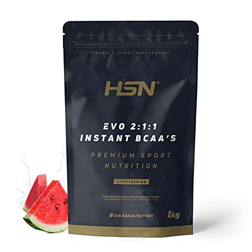Evo 2:1:1 de HSN   BCAA 2 1 1 en Polvo   Suplemento de Aminoácidos Veganos Sabor Sandía   200 servicios