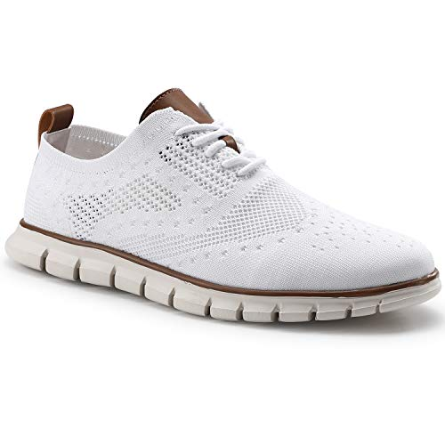 COOJOY Herren Sneakers Oxford Freizeitschuhe Lightweight Brogues Schuhe Männer Geschäftsschuhe