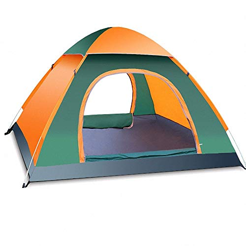 Qazxsw Pop Up Tent,Outdoor Family Camping Full Automatic Tent,Waterproof Windproof Portable 4 Person 3 Season Hiking Backpacking Beach Travel Garden Camping Fishing