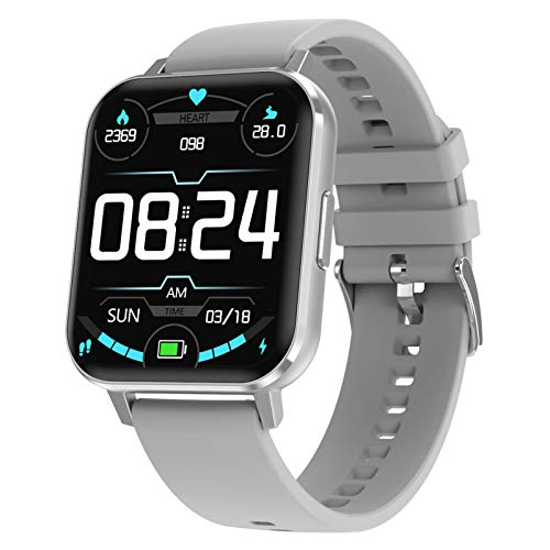 Smartwatch, 1.78 Zoll Touch Farbdisplay Fitness Watch, Fitness Tracker Sportuhr, Fitnessuhr mit IP68 Wasserdicht und Schrittzähler, Pulsmesser und Schlafanalyse Smart Watch für Damen Herren,Grau