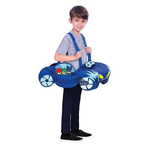 amscan 10132465 Kinderkostüm PJ Masks Cat Car, Unisex-Kinder, Blau, 98-128 cm