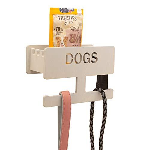 INEXTERIOR Hundegarderobe personalisierbar - in Deutschland gefertigt (Hellgrau, personalisiert)