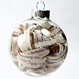 Witchcraft and Wizardry Christmas Ornament - 2.62 Inch Glass Ornament with 1/4 Inch Strips
