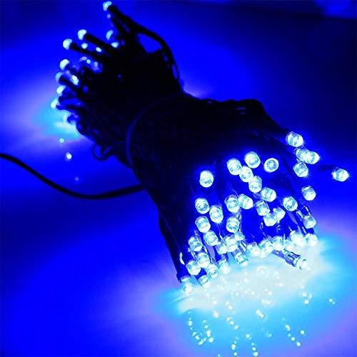 24v laagspanningslichtsnoer, decoratieve gekleurde verlichting op eerste kerstdag, waterdichte buitenverlichting projectverlichting led lichtsnoer-blauw_30 meter 200 lampjes