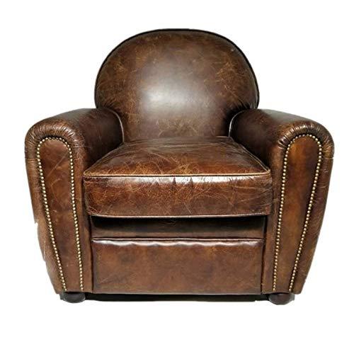liuzecai Sillón Sillón reclinable Sofá Silla Decorativa for Sala de Estar Dormitorio de Oficina Muebles de Sala Comedor (Color : Brown, Size : Medium)