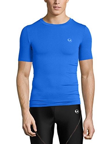 Ultrasport Noam T-Shirt de Compression Homme, Bleu, XX-Large