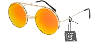 7a64ff52af stars lunettes de soleil flip up relevable verres ronds forme lennon rondes  steampunk hype hypster urbain