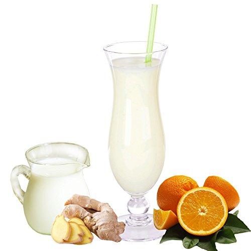 Buttermilch Orange Ingwer Geschmack Eiweißpulver Milch Proteinpulver Whey Protein Eiweiß L-Carnitin angereichert Eiweißkonzentrat für Proteinshakes Eiweißshakes Aspartamfrei (1 kg)