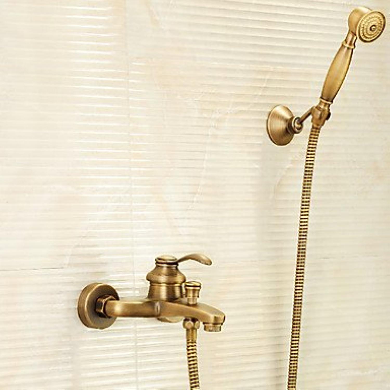 GFFXIXI Duscharmaturen - Antike Antikes Messing Badewanne & Dusche Messingventil