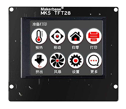 MKS TFT28 V4.0 Controller Display 2.8 Zoll Touchscreen Screen LCD For RepRap Marlin Repetier Smoothieware 3D Drucker With SD Slot Compatible with Ramp1.4