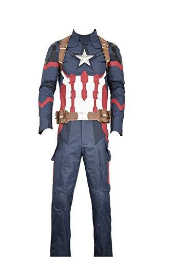 Cosplayfly Disfraz Capitán América 3:Guerra Civil Steve Roger Oxford Tela Traje de Cosplay Custom Adulto