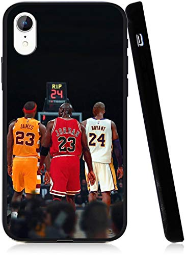 Legendary Basketball Theme Designed for iPhone XR Case, Fashion Slim Protective Cases Cover, Anti Scratch Premium TPU Slim Fit Soft Cover, Compatible with 5.8 inch XR Case (Lebron-Jordan-Kobe)