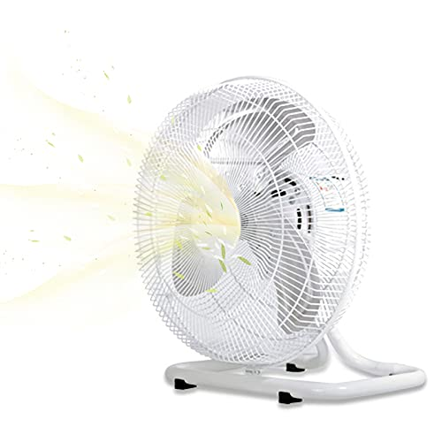 EnweMahi Industrial Ventilador Mesa, Ventilador Circulador Aire 3 Niveles Ajustables Soplado Larga Distancia, Ventilador Tambor Swing Izquierda Derecha áNgulo Ajustable,Blanco,B