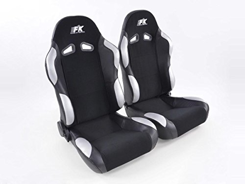 FK Automotive FK Sportsitz Autositz Halbschalensitz Set Spacelook Carbon Rennsitz Motorsport-Optik FKRSE819/820