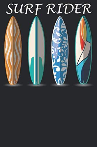 Surf Rider: Notizbuch DIN A5 Liniert 120 Seiten Sommer Strand Surfboard Surfbus Surfen Surfer Wellen Wellenreiten Windsurfen Geschenkidee & ... Planer Tagebuch Notizheft Notizblock