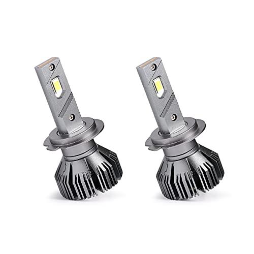 BRUYOMEI Ampoule de Phare LED H7 avec Puce csp de canbus Externe 6500K Cool Blanc Clair éclairage Clair 80W
