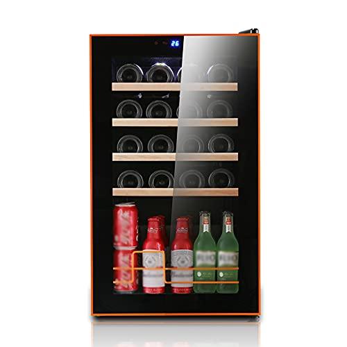 thlabe Vinoteca de 24 Botellas, Nevera Vinos Luz LED, Display Digital, 4 Estantes, Doble Aislamiento, Zonas de Temperatura de 5-18...
