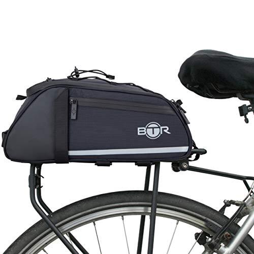 BTR Wasserabweisende 9 Liter Gepäckträgertaschen, Fahrradtasche Gepäckträger Tasche. Nur Fahrradtasche (ohne Bezug und Netz)